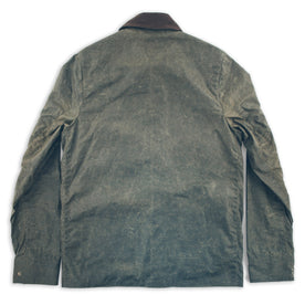 waxed cotton jacket back view