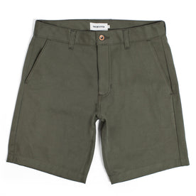Traveler Shorts in Olive Twill: Featured Image