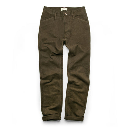 The Camp Pant in Heather Olive Twill: Alternate Image 10