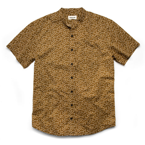 The Short Sleeve Bandit in Fatigue Brown Mini Floral - featured image
