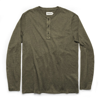 The Heavy Bag Henley in Fatigue Green: Featured Image
