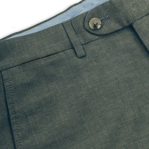 The Telegraph Trouser in Olive - alternate view