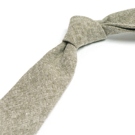 Olive Linen Chambray Tie: Alternate Image 1