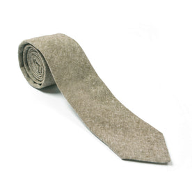 Olive Linen Chambray Tie: Featured Image