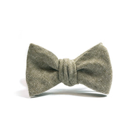 Olive Linen Chambray Bow Tie: Alternate Image 1