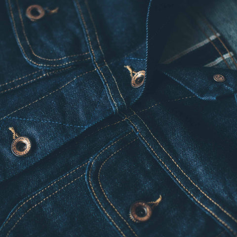 The Pacific Jacket in Cone Mills Stretch Selvage - alternate view