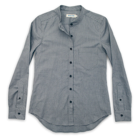 The Piper Shirt in Ash Grey Check - featured image