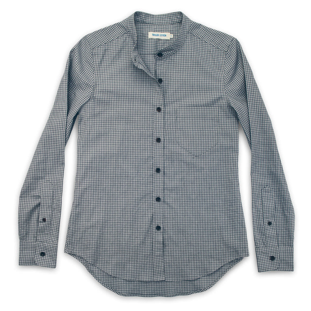 The Piper Shirt in Ash Grey Check