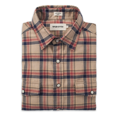The Glacier Shirt in Tan Plaid - featured image