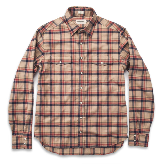 The Glacier Shirt in Tan Plaid