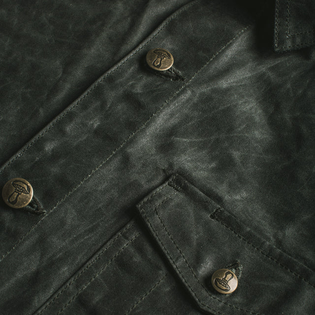 The Project Jacket in Olive Beeswaxed Canvas