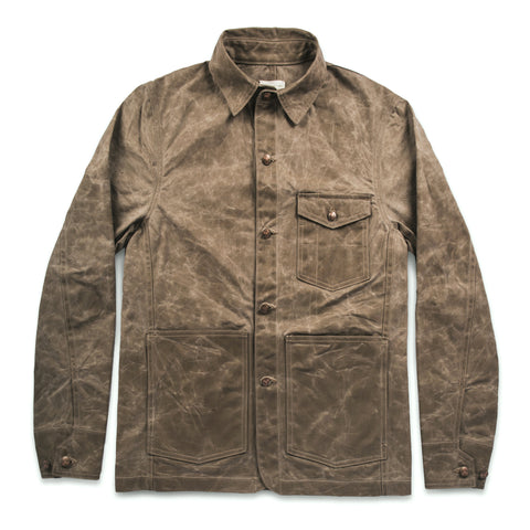 The Project Jacket in Field Tan Beeswaxed Canvas - featured image