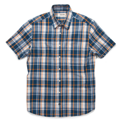 The Short Sleeve California in Blue Madras: Featured Image
