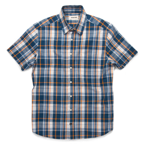 The Short Sleeve California in Blue Madras - featured image