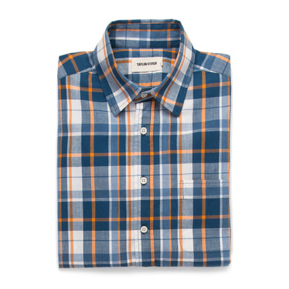 The Short Sleeve California in Blue Madras: Alternate Image 6