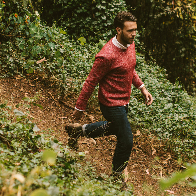 The Summit Sweater in Red