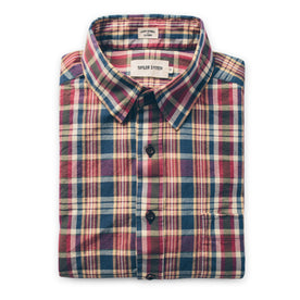 The Short Sleeve California in Red Madras: Featured Image