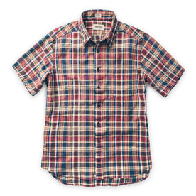 The Short Sleeve California in Red Madras: Alternate Image 7