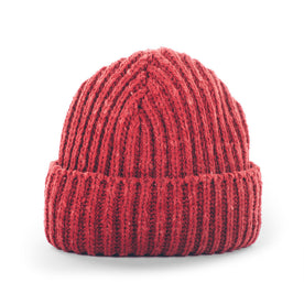 The Merino Wool Beanie in Dusty Red: Featured Image