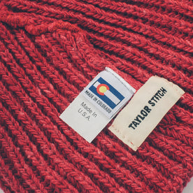 The Merino Wool Beanie in Dusty Red: Alternate Image 2