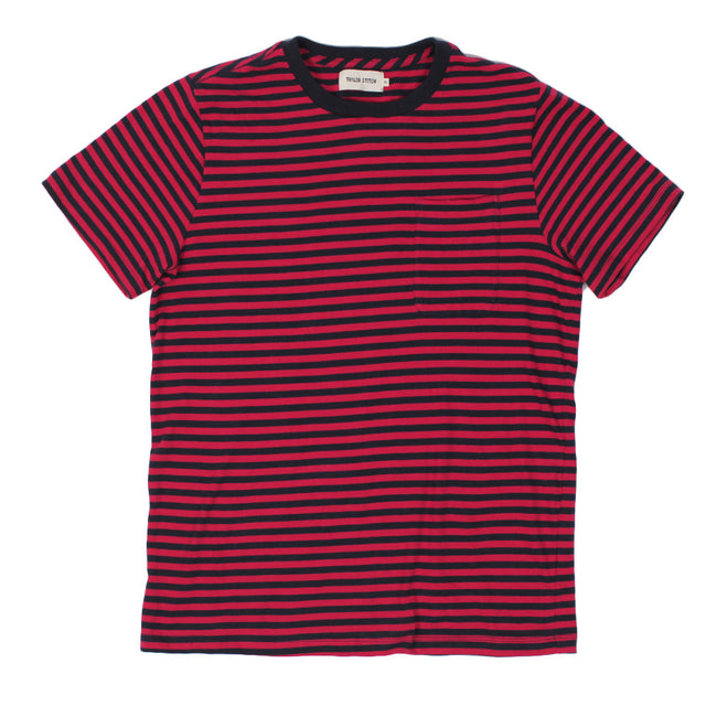 The Sequoia Stripe Tee in Navy & Red