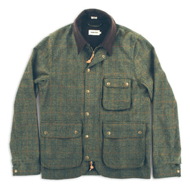 The Rover Jacket in Olive Plaid Waxed Wool: Featured Image