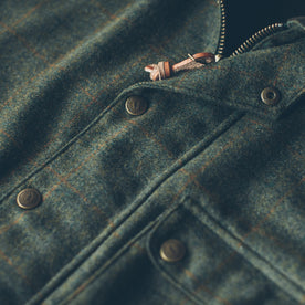 The Rover Jacket in Olive Plaid Waxed Wool: Alternate Image 1