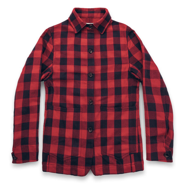 The Ryder Jacket in Red Buffalo Plaid