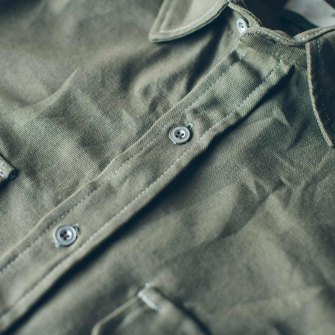 The Chore Shirt in Sage - alternate view