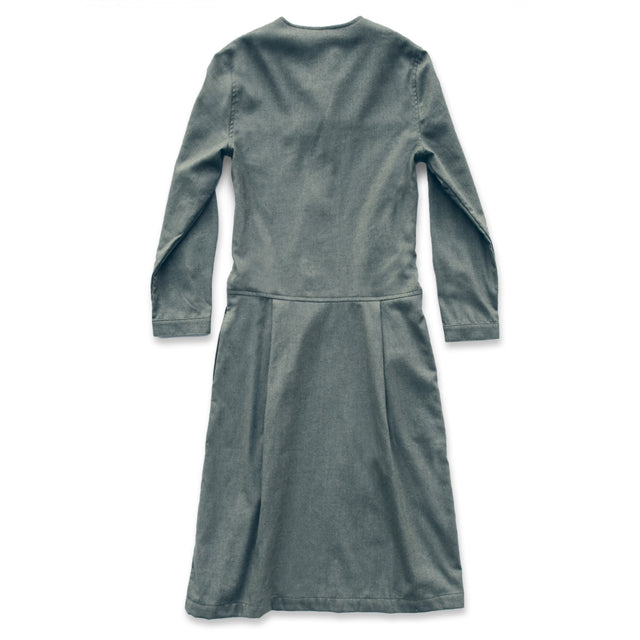 The Juniper Dress in Sage Brushed Cotton