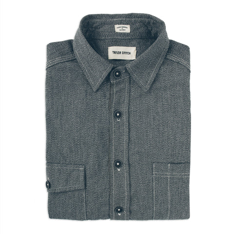 The Utility Shirt in Salt & Pepper Chambray - featured image