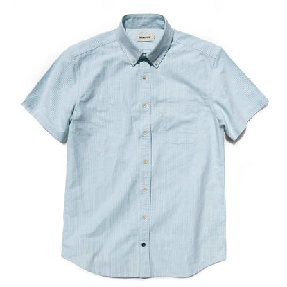 The Short Sleeve Jack in Teal University Stripe: Featured Image