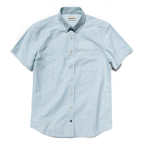 The Short Sleeve Jack in Teal University Stripe - featured image