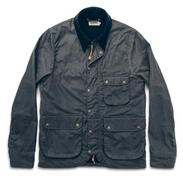 The Rover Jacket in Slate Waxed Canvas