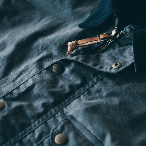 The Rover Jacket in Slate Waxed Canvas - alternate view
