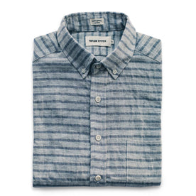 The Short Sleeve Jack in Grey & Navy Stripe