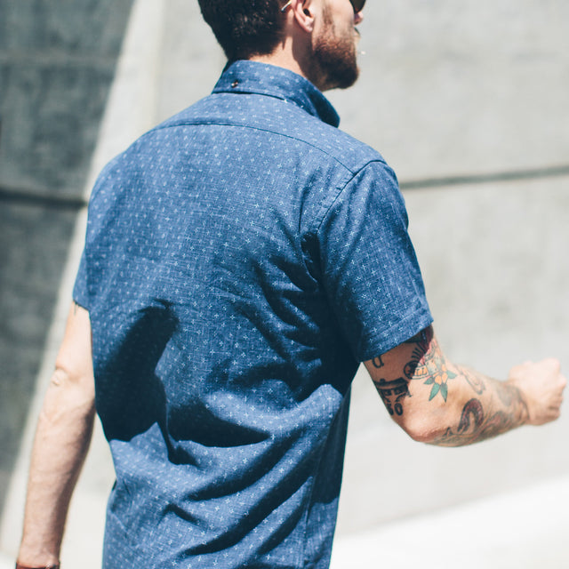 The Short Sleeve Jack in Indigo Star