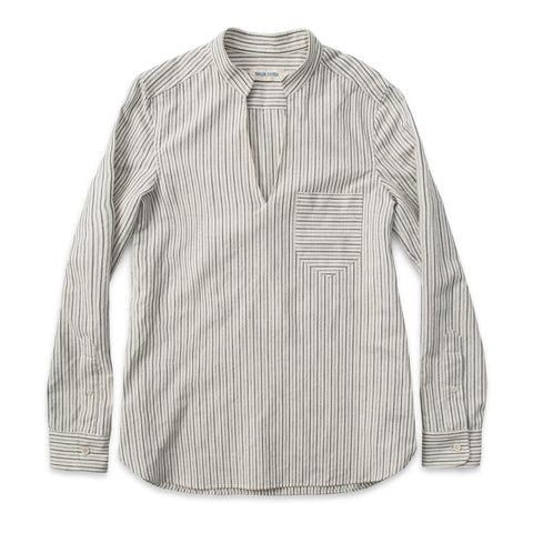 The Edie Popover in French Ticking Stripe - featured image