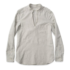 The Edie Popover in French Ticking Stripe