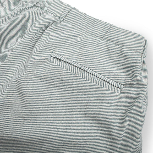 The Isla Pant in Seafoam Striped Cotton