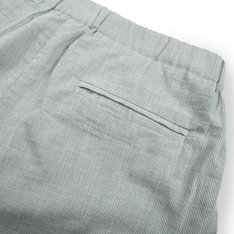 The Isla Pant in Seafoam Striped Cotton - alternate view