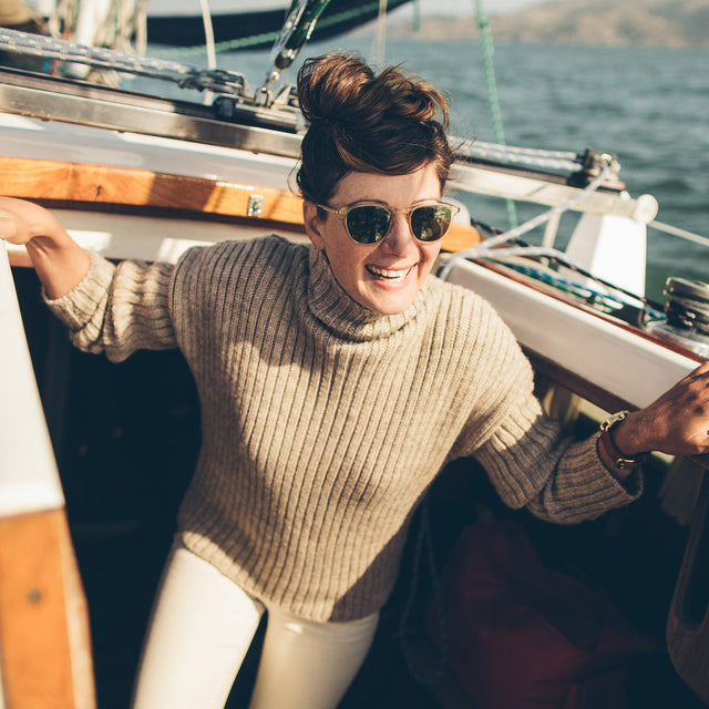 The Maritime Sweater in Mink