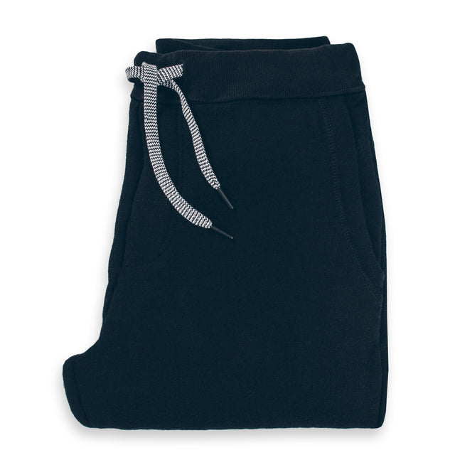 The Merino Sweatpant in Black Fleece