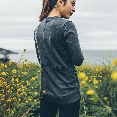The Chandler Sweatshirt in Indigo Melange - alternate view