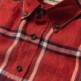 The Short Sleeve Jack in Crimson Plaid: Alternate Image 6