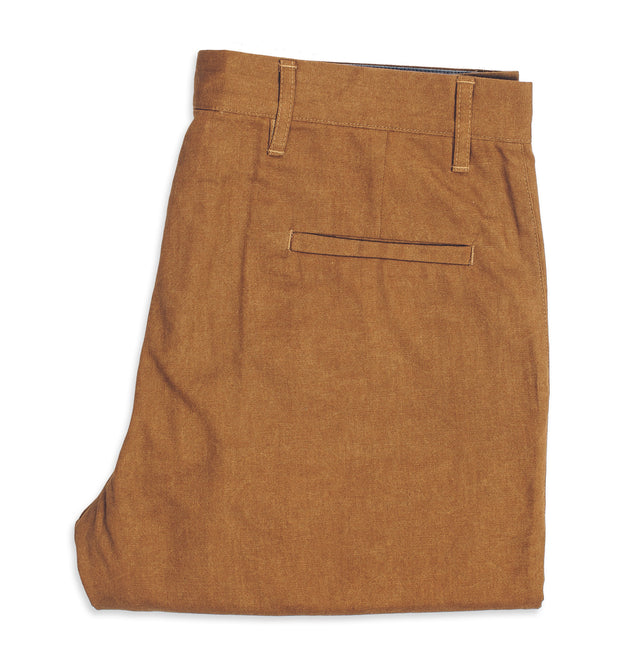 6 Point Pant in Caramel Oxford
