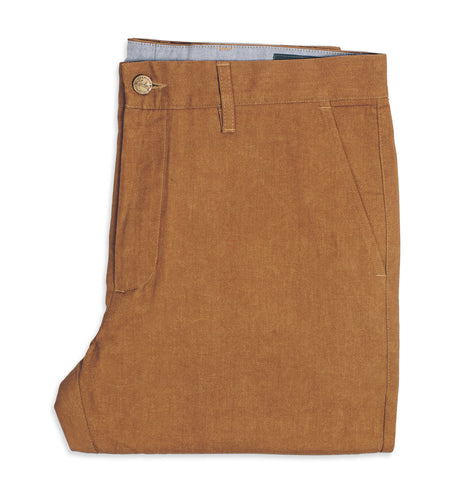 6 Point Pant in Caramel Oxford - alternate view