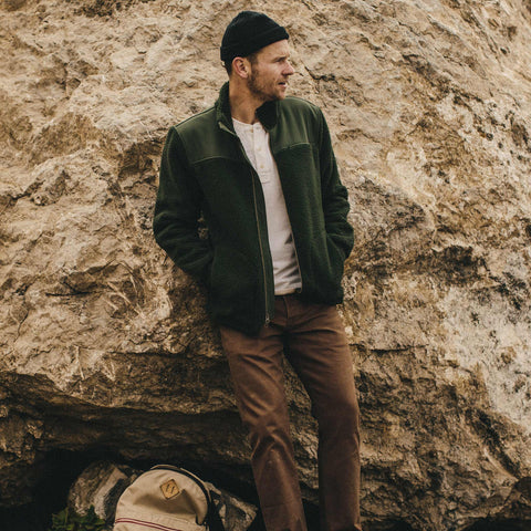 The Truckee Jacket in Moss - alternate view