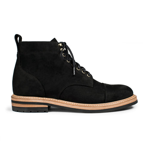 The Moto Boot in Black Waterproof Nubuck - featured image