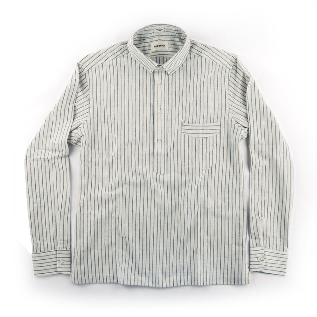 The Popover in Indigo Variegated Stripe